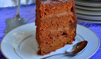Шоколадный бисквитный торт «Пища Дьявола»