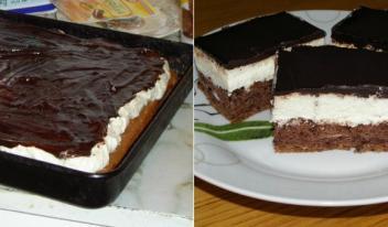 Шоколадный бисквитный торт в домашних условиях