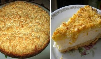 Тертый пирог с творогом: пошаговый рецепт