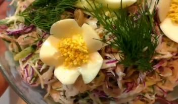 ТОП-5 простых и вкусных мясных салатов на праздничный стол!