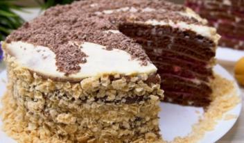 Шоколадный торт на сковороде: пошаговый рецепт