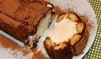 Торт рулет «Тирамису» - красивый рецепт!