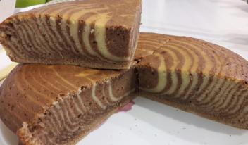 Торт «Зебра» с орехами пошаговый рецепт с фото