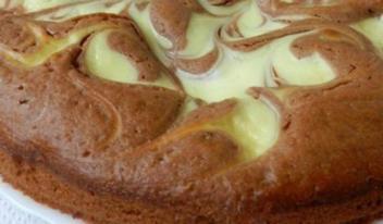 Творожный пирог с какао: пошаговый рецепт