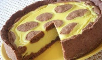 Очень вкусный творожный пирог «Жираф» или «коровка Буренка» на сметане
