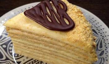 Творожный торт на сковороде с заварным кремом: пошаговый рецепт