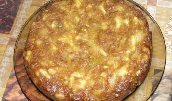 Вкусная и сытная шарлотка с капустой в духовке: пошаговый рецепт