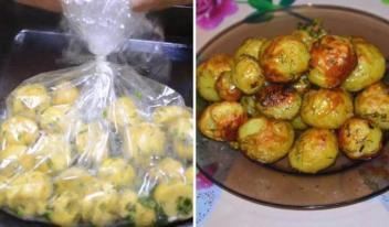 Вкусная картошка запеченная в рукаве: пошаговый рецепт