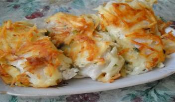 Вкусная рыба под тертой картошкой: простой рецепт