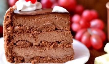 Вкуснейший шоколадный торт Тирамису с печеньем савоярди и вишневым ликером