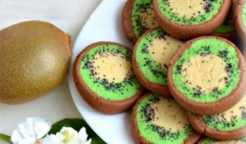 Вкусное и ароматное печенье «Киви»