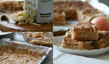 Оригинальный рецепт приготовления насыпного яблочного пирога