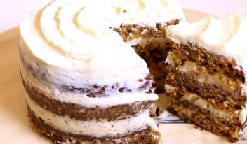 Вкусный Морковный торт по рецепту STARBUCKS