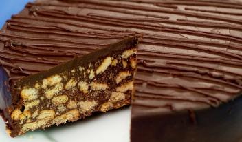 Вкусный шоколадный торт на скорую руку без выпечки!