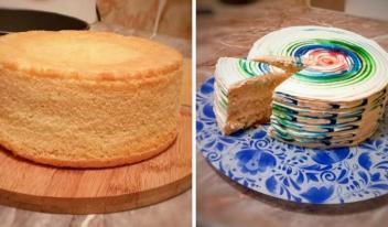 Как приготовить пышный и высокий бисквит