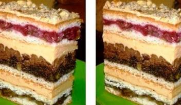 Изумительный торт «Люси» с вишней
