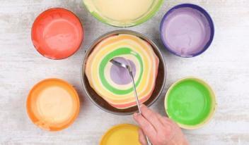 Ягодно- фруктовый радужный пирог для детей