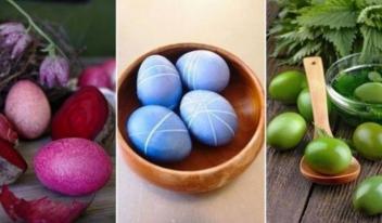 Как можно использовать натуральные красители для пасхальных яиц