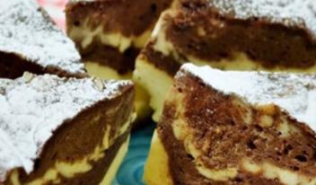 Нежный шоколадно-творожный десерт без муки