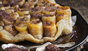 Перевернутый банановый пирог