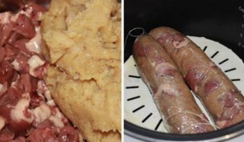 Рецепт куриных колбасок с сыром
