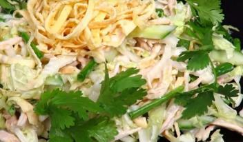 Рецепт пикантного японского салата «Самурай»