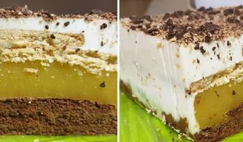Простой десерт без выпечки из печенья