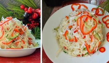 Свежий зимний салат: находка после праздников!