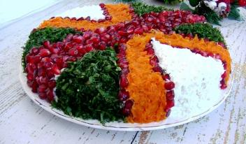 Вкусный и красивый салат из индейки и огурцов