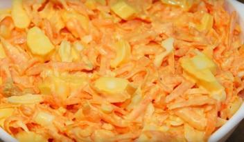 Вкусный и полезный витаминный салат из свежей моркови